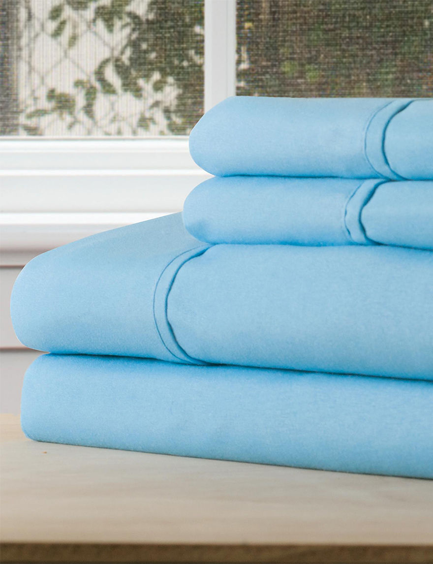 Lavish Home Light Blue Sheets & Pillowcases