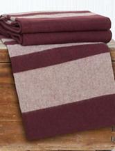Lavish Home Australian Merino Wool Striped Blanket