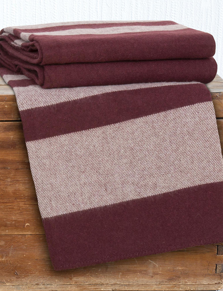 Lavish Home Burgundy Blankets & Throws