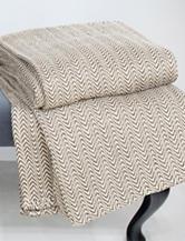 Lavish Home Chevron Egyptian Cotton Blanket