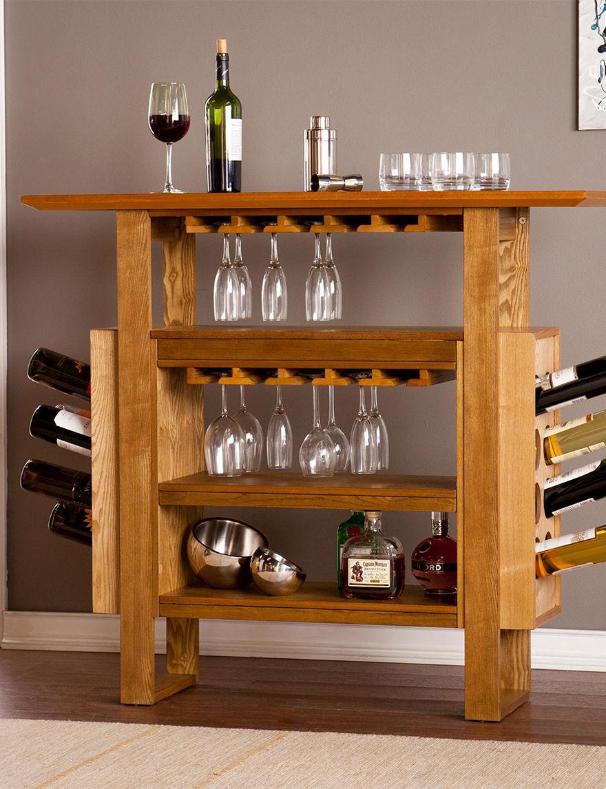 Southern Enterprises Oak Wine Racks