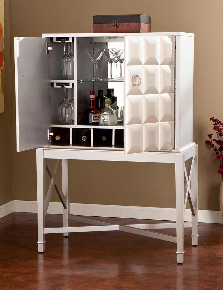 Southern Enterprises Silver Wine Racks