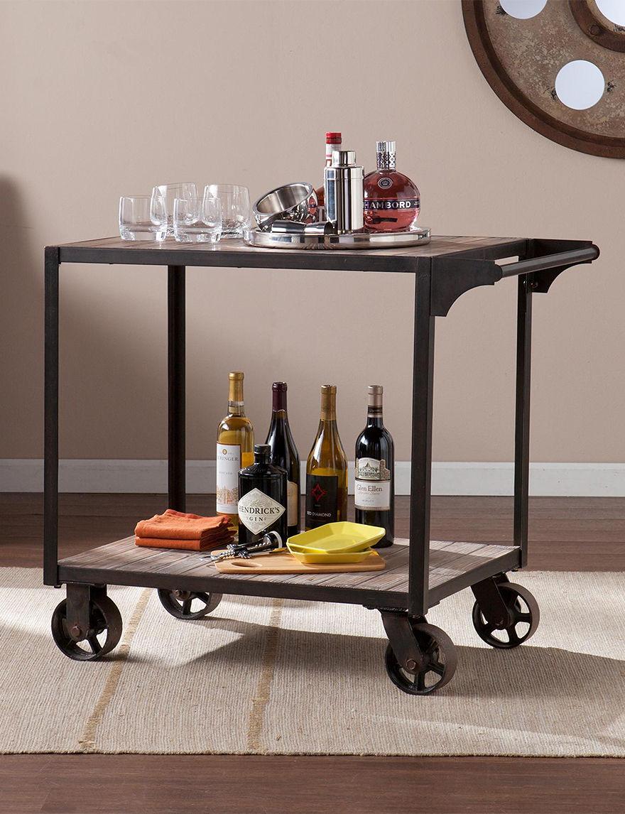 Southern Enterprises Black Kitchen Islands & Carts