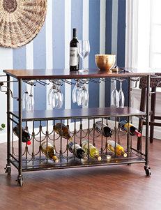 Southern Enterprises Rolden Wine & Bar Cart