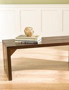 Southern Enterprises Slat Bench & Table