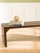 Southern Enterprises Slat Bench & Table