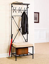 Southern Enterprises Entryway Storage Rack Bench Seat