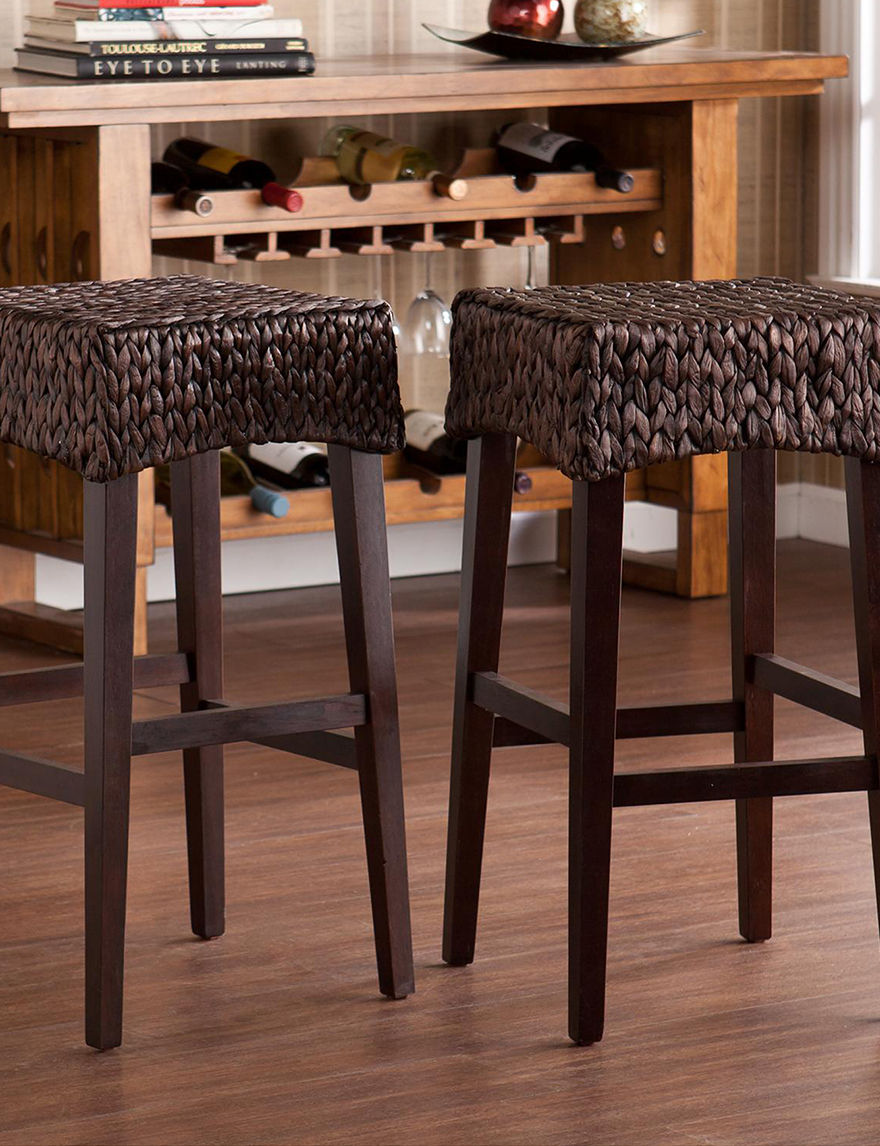 Southern Enterprises Brown Bar & Kitchen Stools Kitchen & Dining Furniture