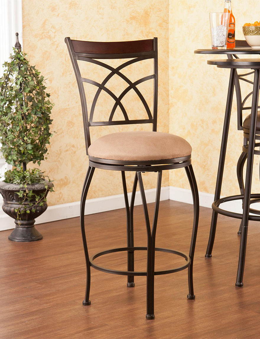 Southern Enterprises Champagne Bar & Kitchen Stools Kitchen & Dining Furniture