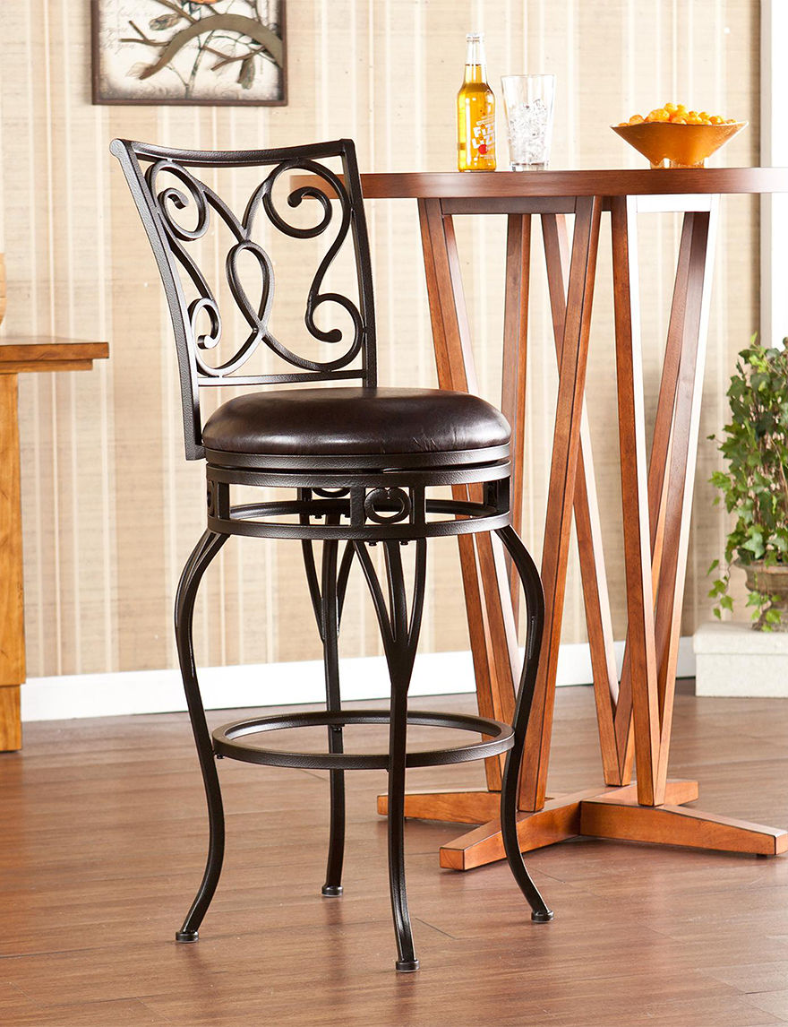 Southern Enterprises Bronze Bar & Kitchen Stools Kitchen & Dining Furniture