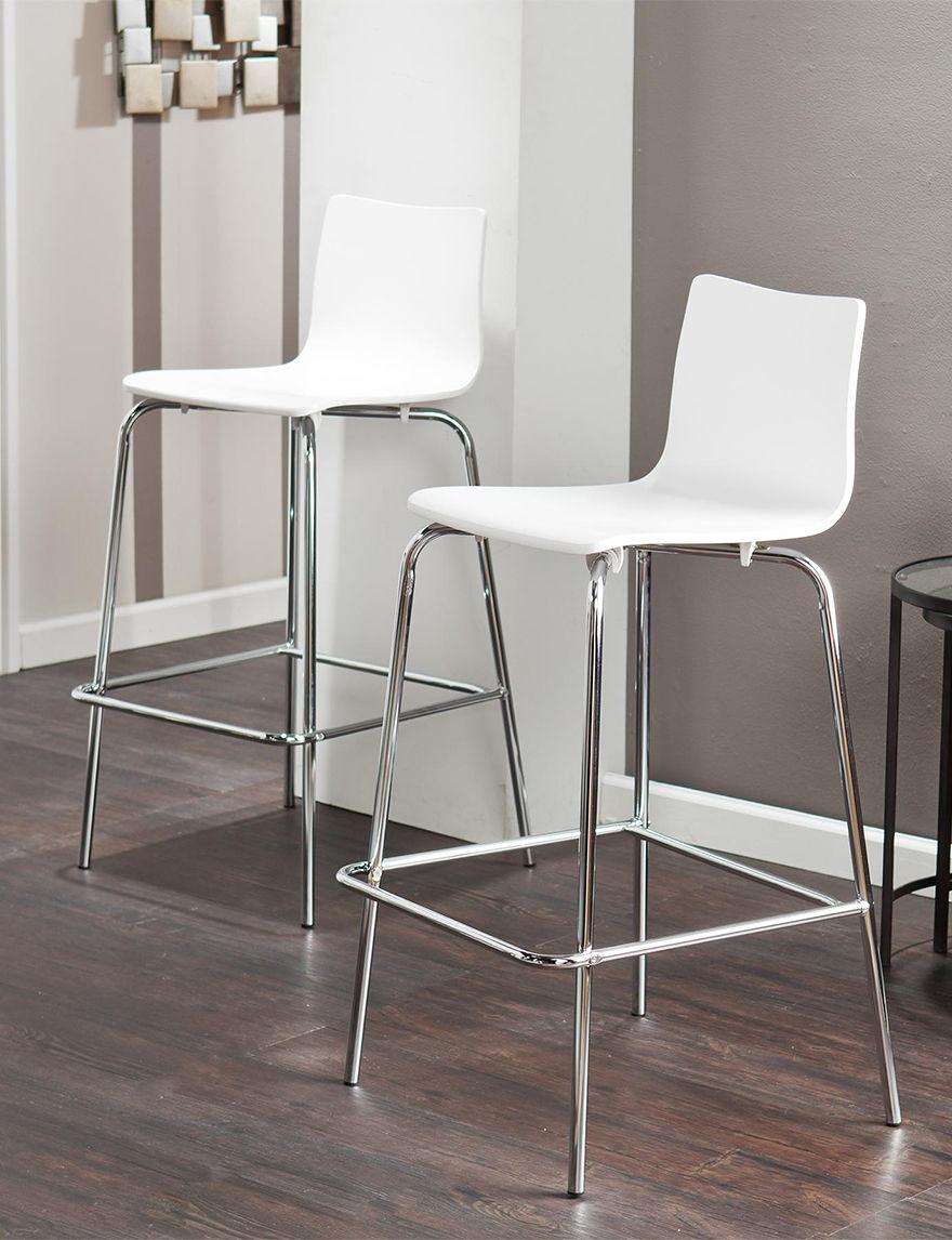 Southern Enterprises White Bar & Kitchen Stools Kitchen & Dining Furniture