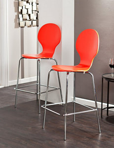 Southern Enterprises Red Bar & Kitchen Stools Kitchen & Dining Furniture