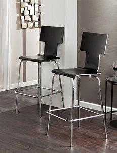 Southern Enterprises Black Bar & Kitchen Stools Kitchen & Dining Furniture