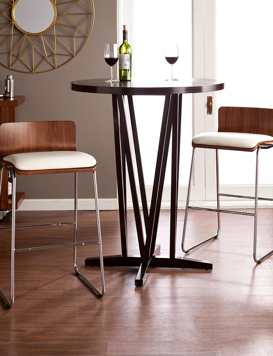 Southern Enterprises Walnut/White Bar & Kitchen Stools Kitchen & Dining Furniture