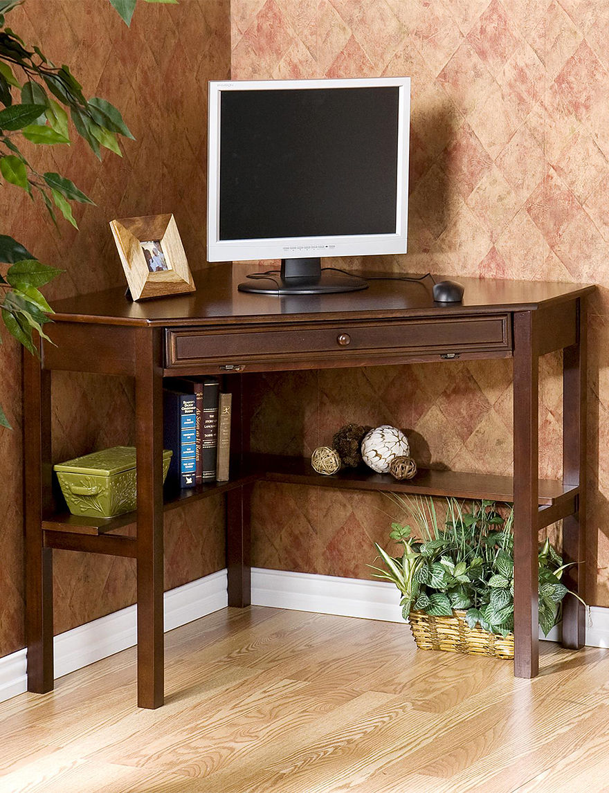 Southern Enterprises Espresso Desks Home Office Furniture