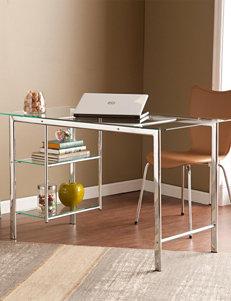 Southern Enterprises Oslo Chrome Desk