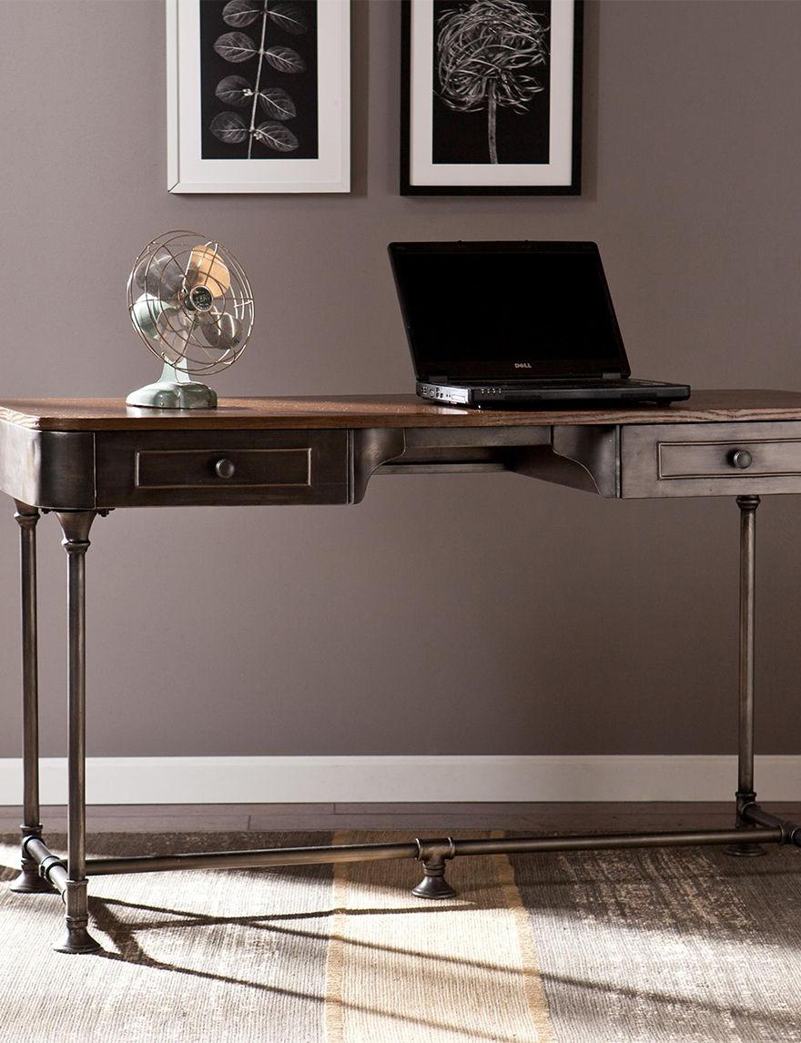 Southern Enterprises Dark Brown Desks Home Office Furniture