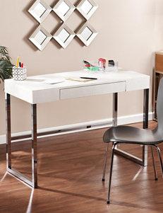 Southern Enterprises Cream Desks Home Office Furniture