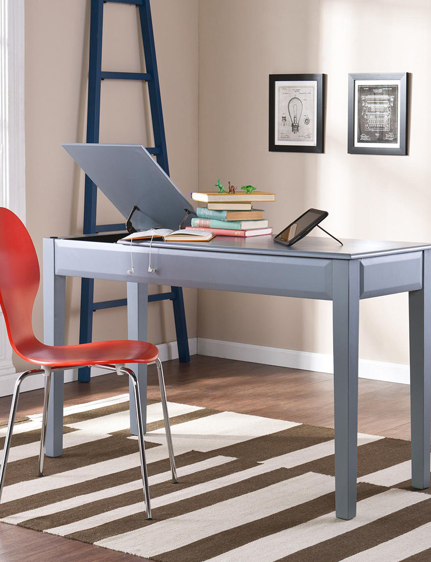 Southern Enterprises Grey Desks Home Office Furniture