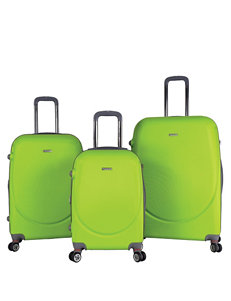 Travelers Club Luggage Lime Luggage Sets Upright Spinners