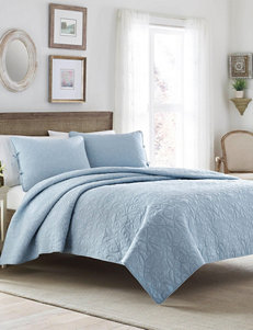 Laura Ashley 3-pc. Blue Felicity Quilt Set