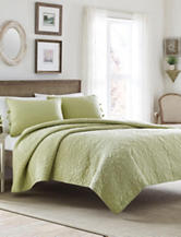 Laura Asheley 3-pc. Sage Felicity Quilt Set