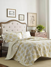 Laura Ashley 3-pc. Cielo Lemon Quilt Set