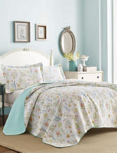 Laura Ashley 3-pc. Fish Frolic Quilt Set