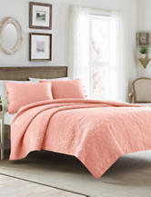 Laura Asheley 3-pc. Coral Felicity Quilt Set