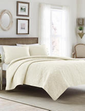 Laura Ashley 3-pc. Ivory Felicity Quilt Set