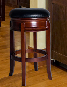 Lavish Home Ornate Black Swivel Bar Stool