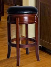 Lavish Home Ornate Black Swivel Bar Stool