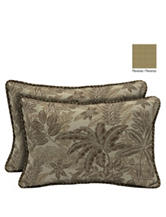 Bombay 2-pk. Palmetto Mocha Lumbar Pillow Set