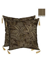 Bombay 2-pk. Palmetto Espresso Toss Pillow Set