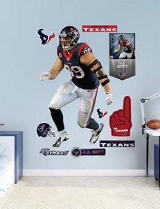 Fathead Black Wall Art Game Room NFL Wall Decor