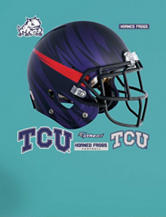 Fathead 4-pc. TCU Horned Frogs Bleeding Eyes Helmet Wall Decal