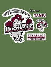 Fathead 5-pc. Texas A&M International Dustdevils Logo Wall Decals