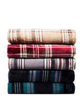 Great Hotels Collection Reversible Plaid Print Throw Blanket