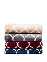 Great Hotels Collection Trellis Print Reversible Throw Blanket