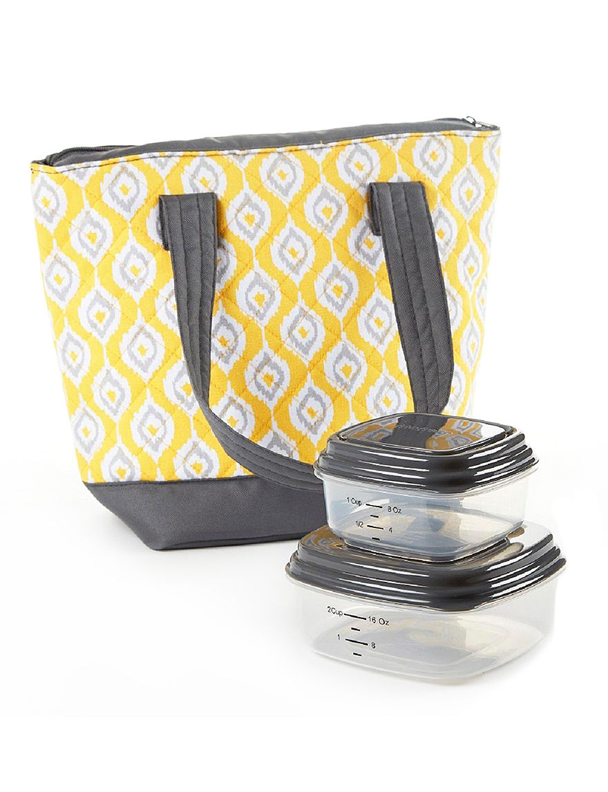Fit & Fresh Yellow Lunch Boxes & Bags Kitchen Storage & Organization