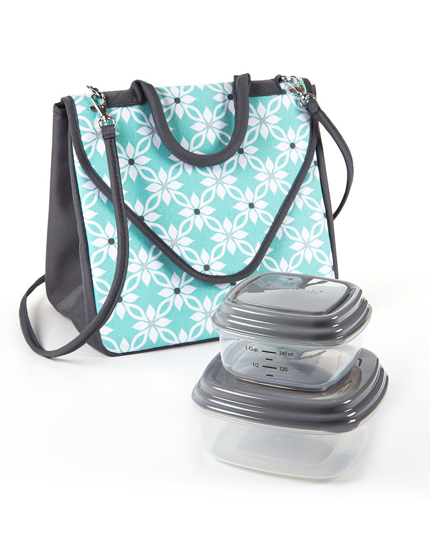 Fit & Fresh Aqua Lunch Boxes & Bags Prep & Tools