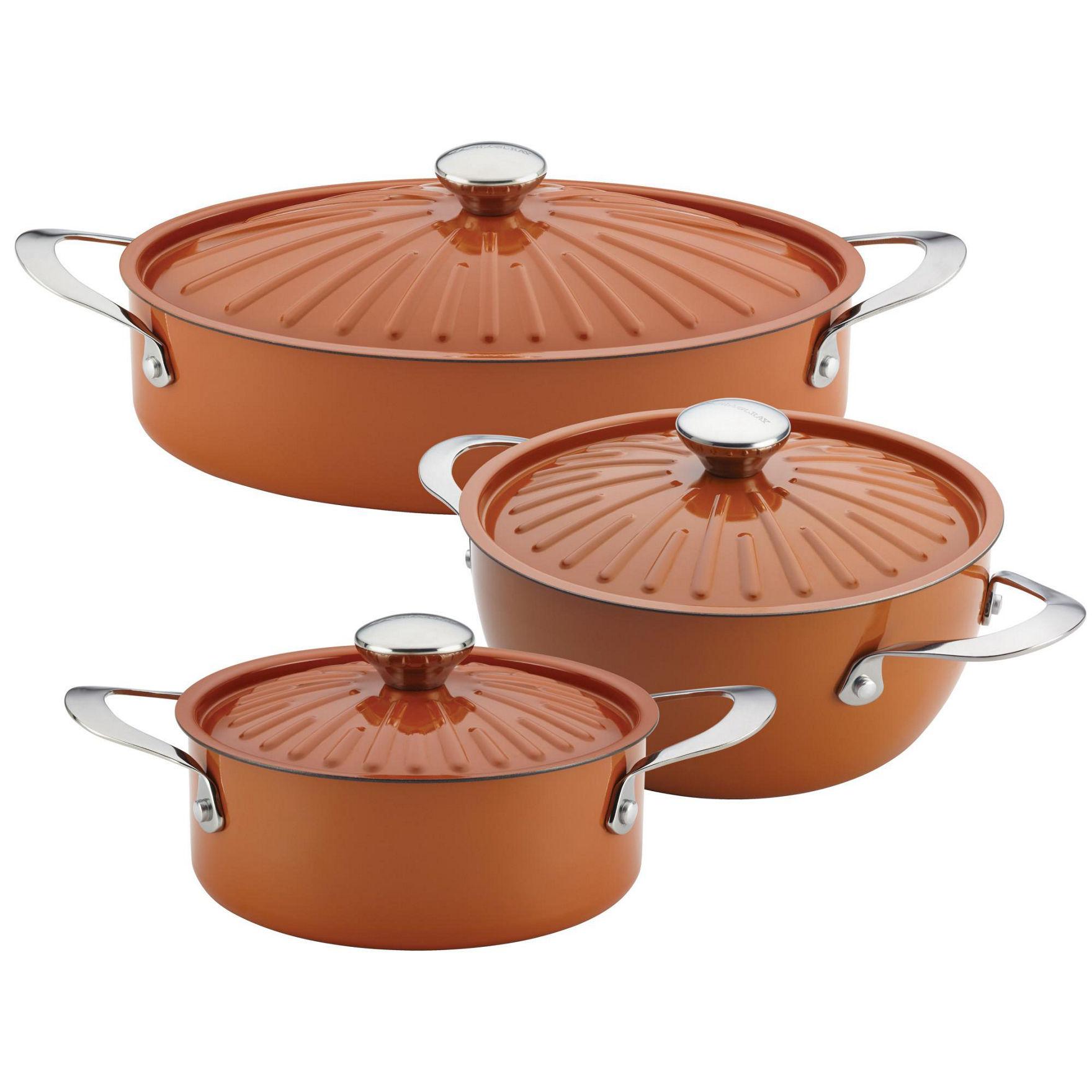 Rachael Ray Pumpkin Cookware Sets Cookware