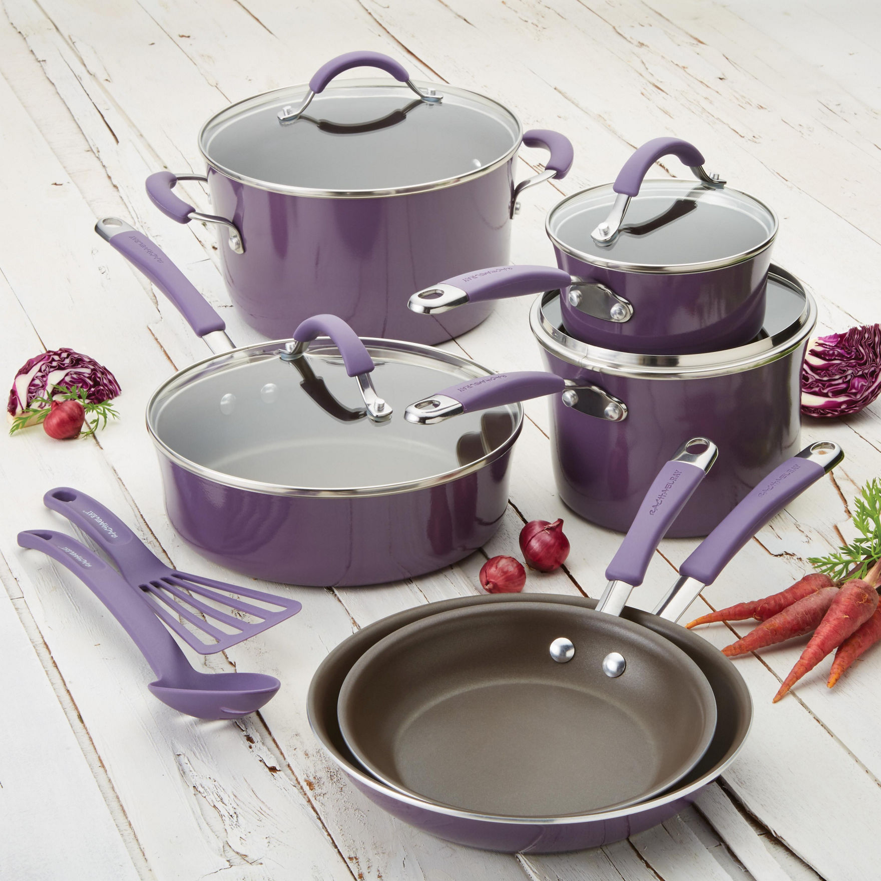 Rachael Ray Lavender Cookware Sets Cookware