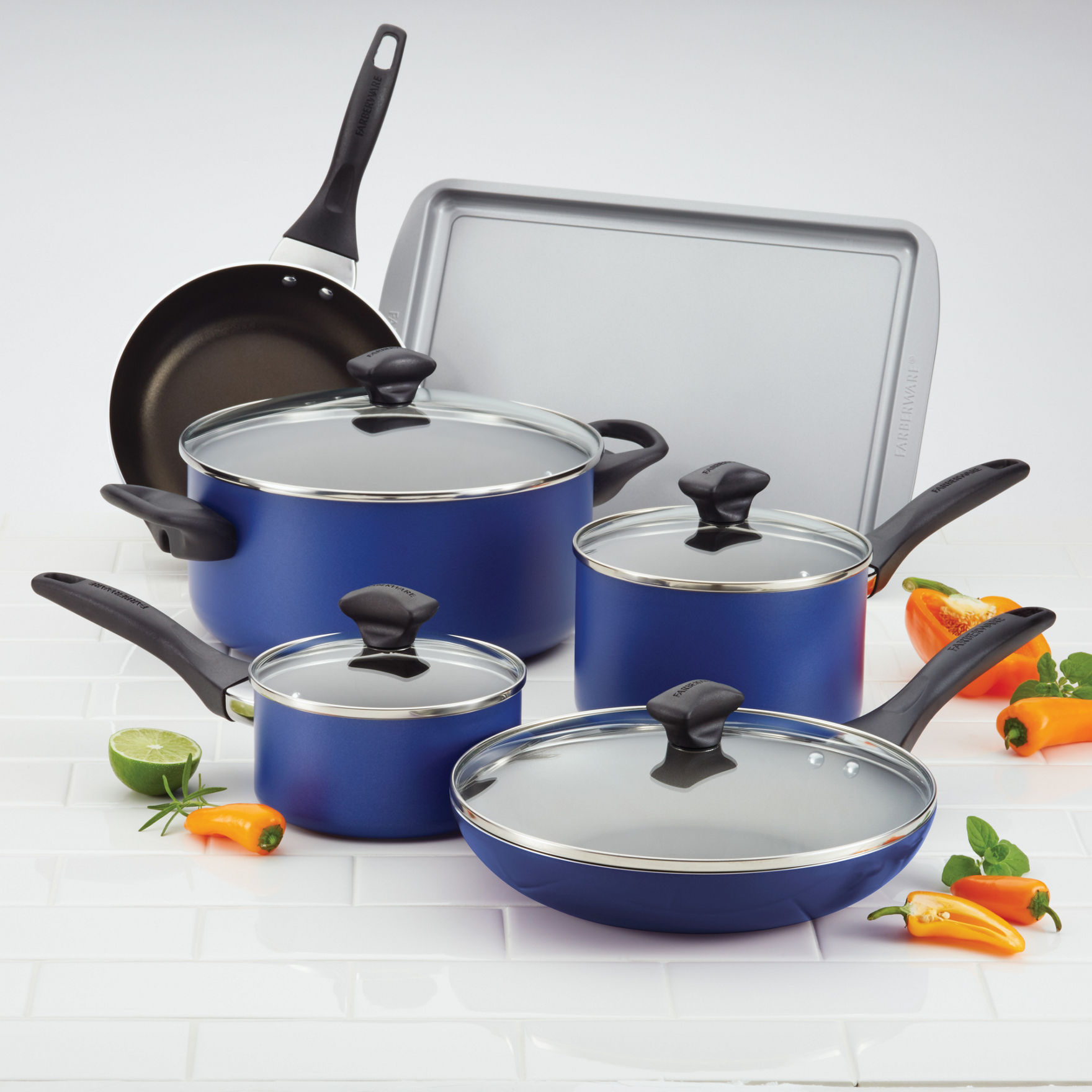 Farberware 15-pc. Nonstick Cookware Set | Stage Stores