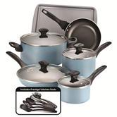 Farberware 15-pc. Aqua Cookware Set