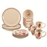 Farberware 16-pc. Bonjour Dinnerware Chanticleer Country Collection