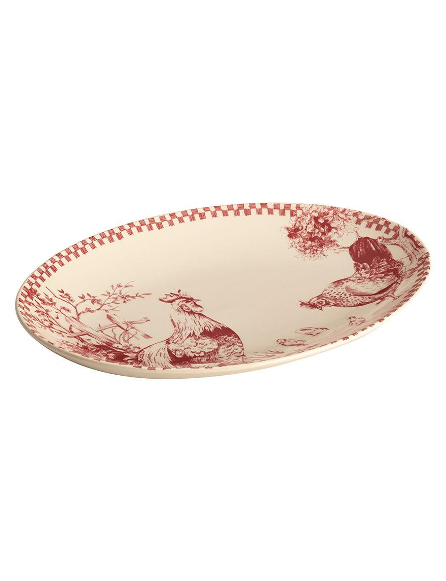 Farberware Red Serving Platters & Trays Dinnerware