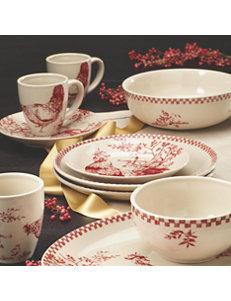 Farberware Red Bowls Dinnerware