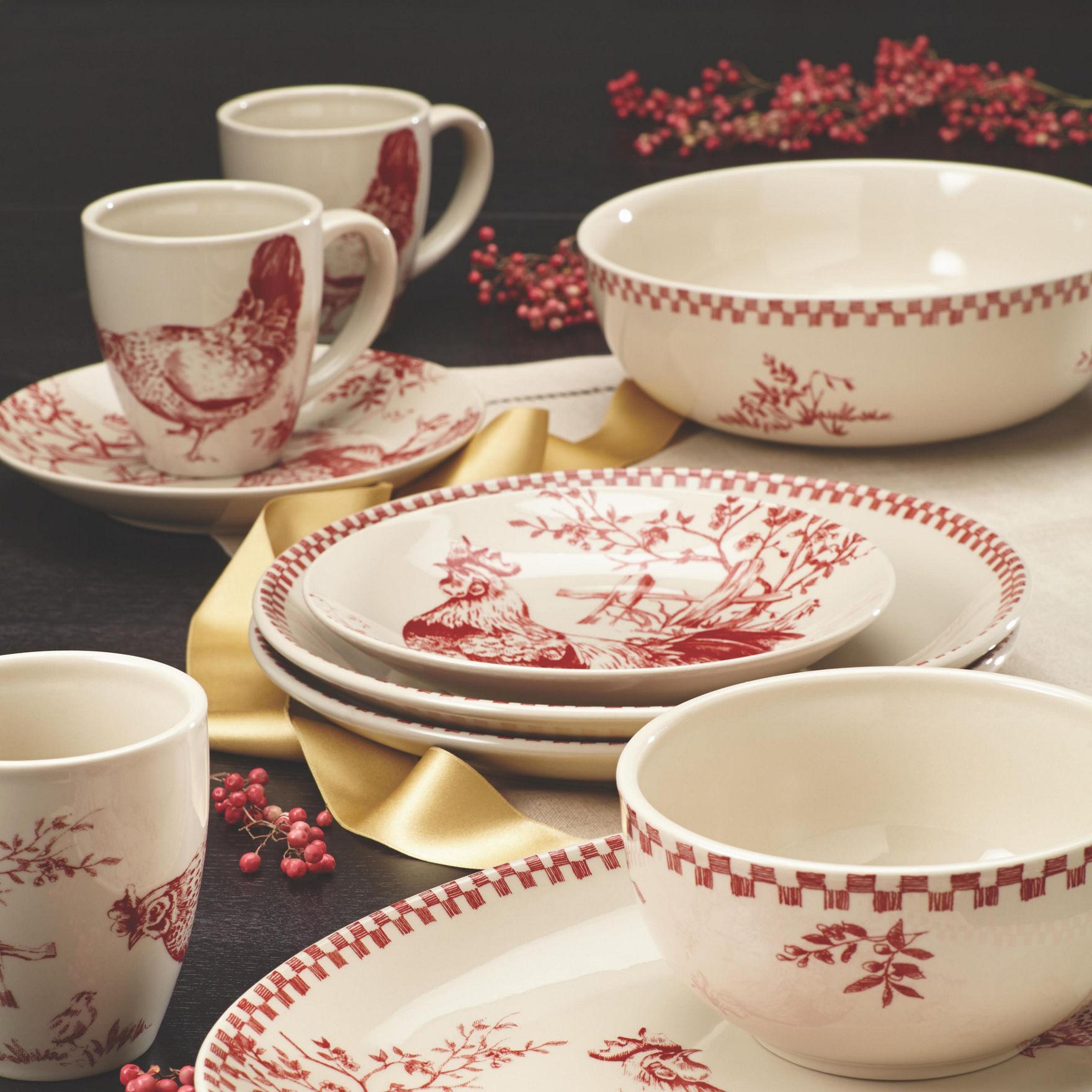 Farberware Red Bowls Dinnerware