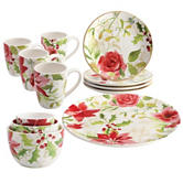 Paula Deen 12-pc. Complete Holiday Table Top Dinnerware Set